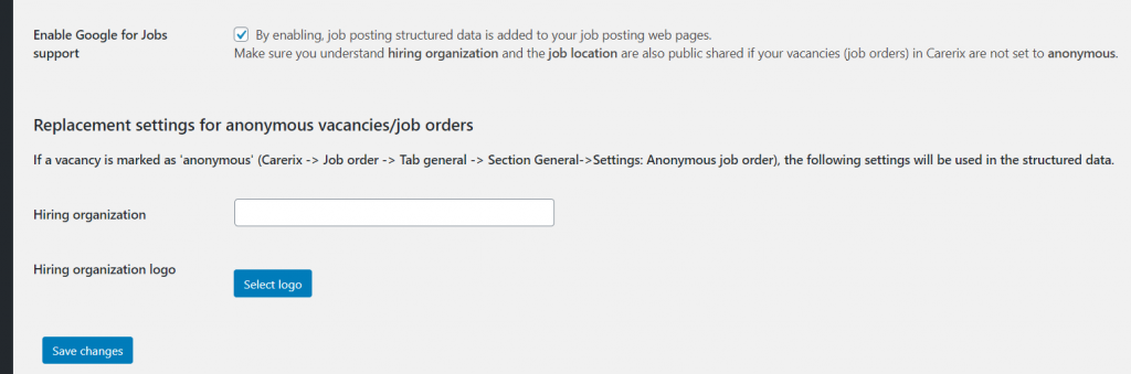 Enable Google for Jobs